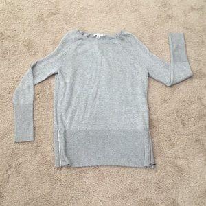 Calvin Klein metallic zipper details on sides